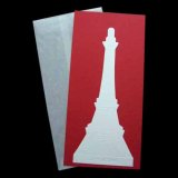 2-4 EIFFEL TOWER CARD & ENVELOPE (RED)